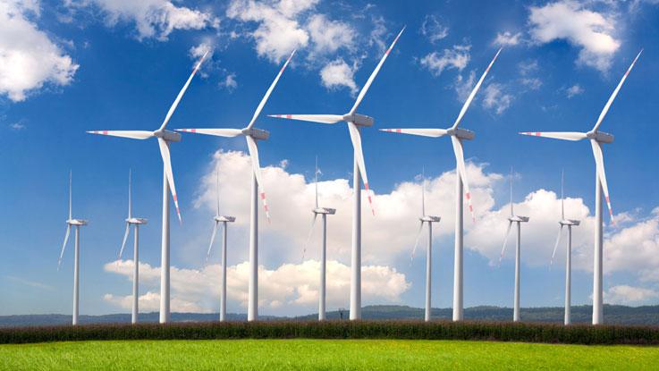 Image d'un champ éolien