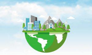 Globe avec ville